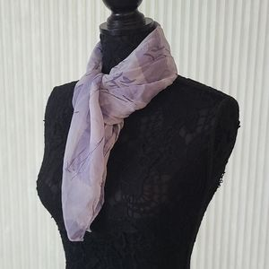 Purple Abstract Square Scarf